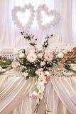 Decoración de la boda con las flores frescas Fotos de archivo libres de regalías