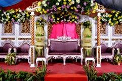 Decoración de la boda de Java Foto de archivo libre de regalías