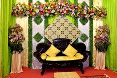 Decoración de la boda de Java - jawa pernikahan del dekorasi Imagen de archivo
