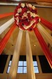 Decoración de la boda de la cortina fotografía de archivo libre de regalías
