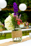 Decoración de la boda de la flor Foto de archivo libre de regalías