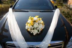 Decoración de la boda del coche Fotos de archivo libres de regalías