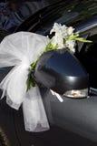 Decoración de la boda del coche Fotografía de archivo