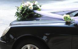 Decoración de la boda del coche imagen de archivo libre de regalías