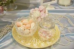 Decoración de la boda (dulces) Imagenes de archivo