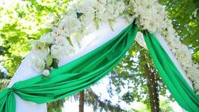 Decoración de la boda en ceremonia almacen de video