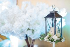 Decoración de la boda en ceremonia de boda musulmán Fotos de archivo