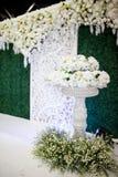 Decoración de la boda en ceremonia de boda musulmán Imagen de archivo libre de regalías