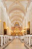 Decoración de la boda en la iglesia Fotos de archivo libres de regalías