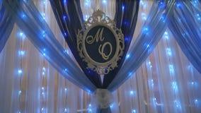 Decoración de la boda Letras del nombre de la pareja casada metrajes