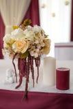 Decoración de la boda, marsala del color Foto de archivo libre de regalías