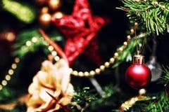 Decoración de la bola del árbol del Año Nuevo Foto de archivo libre de regalías