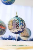 Decoración de la bola del Año Nuevo de la Navidad  Imagen de archivo libre de regalías