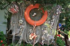 Decoración de la cáscara del mar Foto de archivo libre de regalías