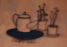 Decoración de la cafetería Imagen de archivo libre de regalías