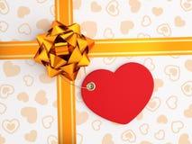 Decoración de la caja de regalo festiva Imagenes de archivo