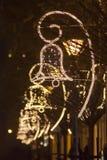 Decoración de la calle de la Navidad Foto de archivo libre de regalías