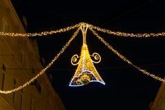 Decoración de la calle de la Navidad Fotografía de archivo