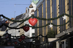 Decoración de la calle de la Navidad Fotos de archivo libres de regalías