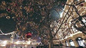 Decoración de la calle de la Navidad almacen de video