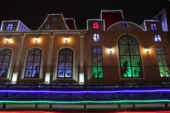 Decoración de la calle de la Navidad del Año Nuevo en Moscú Imagen de archivo