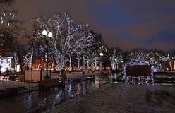 Decoración de la calle del Año Nuevo de Moscú Fotos de archivo