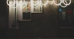 Decoración de la calle del Año Nuevo almacen de metraje de vídeo