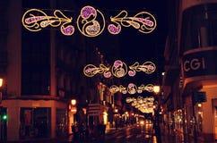 Decoración de la calle en Albacete Fotos de archivo