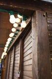 Decoración de la calle de la luz para el holid de la Navidad y del Año Nuevo Imagen de archivo libre de regalías