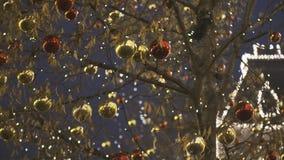 Decoración de la calle de la Navidad metrajes