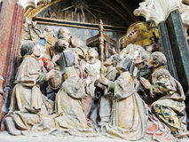 Decoración de la catedral de Amiens, Francia Fotografía de archivo libre de regalías