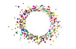 Decoración de la celebración de días festivos del carnaval del cumpleaños del marco del confeti Fotos de archivo