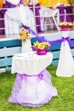 Decoración de la ceremonia de boda Imágenes de archivo libres de regalías