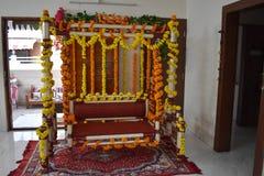 Decoración de la ceremonia de la fiesta de bienvenida al bebé imágenes de archivo libres de regalías