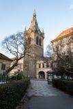 Decoración de la ciudad en tiempo de la Navidad del advenimiento en Praga Fotos de archivo libres de regalías