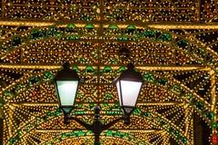 Decoración de la ciudad de Moscú por el Año Nuevo Imágenes de archivo libres de regalías