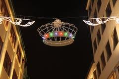 Decoración de la corona de la Navidad foto de archivo