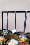 Decoración de la cucharón de la comida fría Fotografía de archivo