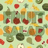Decoración de la ensalada de fruta libre illustration