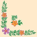 Decoración de la esquina de las flores Fotos de archivo