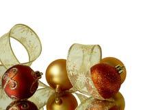 Decoración de la esquina del fondo de la Navidad Imagen de archivo libre de regalías