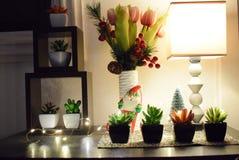 Decoración de la esquina interior simple para los hogares y el ldesign de la idea foto de archivo