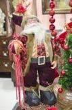 Decoración de la estatua de Papá Noel Fotos de archivo
