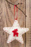 Decoración de la estrella de la Navidad Fotos de archivo libres de regalías