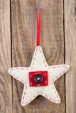 Decoración de la estrella de la Navidad Imagenes de archivo