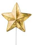 Decoración de la estrella de la Navidad Foto de archivo libre de regalías