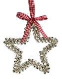 Decoración de la estrella de la Navidad de Belces de plata Fotos de archivo libres de regalías