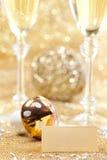 Decoración de la Feliz Año Nuevo Imagen de archivo libre de regalías