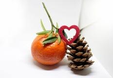 Decoración de la Feliz Año Nuevo de la Feliz Navidad Fotografía de archivo