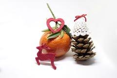 Decoración de la Feliz Año Nuevo de la Feliz Navidad Foto de archivo